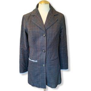 Free People Plaid coat size 6